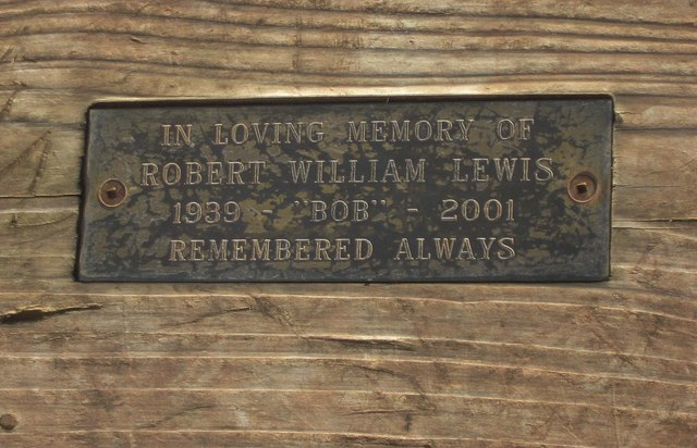 Plaque on seat on Clent Hills, near Clent