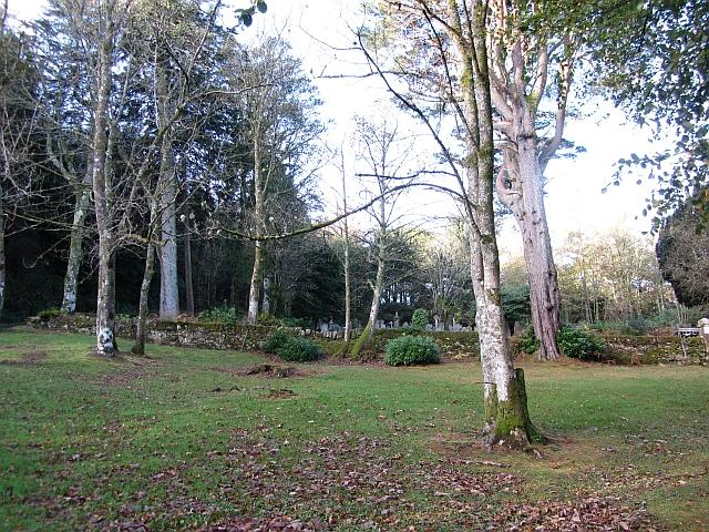 Woodland and cemetery, Glen Shurig