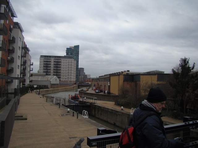 View along the Lea towards Bow