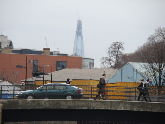 View of the Shard from the Lea towpath