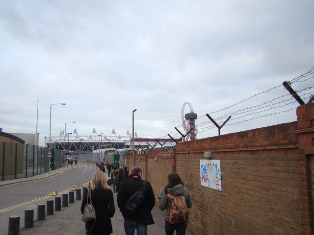 View of the Olympic Stadium from Marshgate Lane