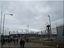 TQ3783 : View of the Olympic Stadium from Marshgate Lane #2 by Robert Lamb