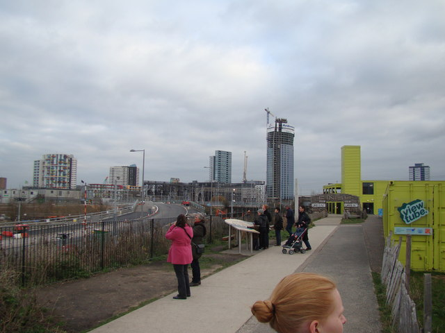 Looking towards Stratford from the Greenway