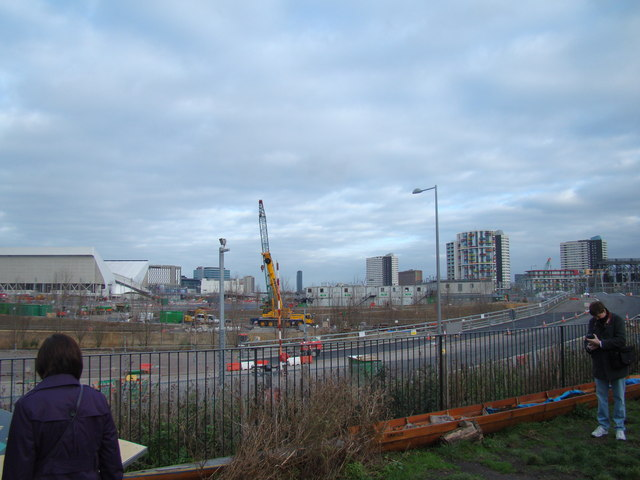 View of the Olympic Park from the Greenway