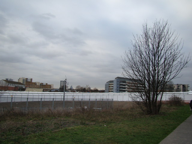 View of a running tunnel for the Olympics from the Greenway
