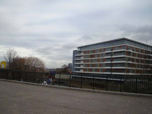 Riverside flats beside the Lea, viewed from the Greenway
