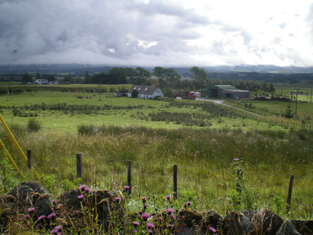 East along the Spey valley