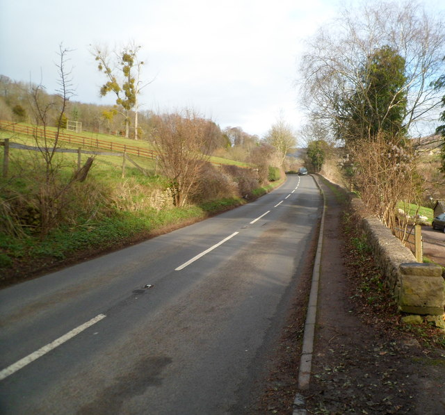 The B4070 between Stroud and Slad
