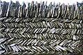 SX0790 : Herringbone wall by Bob Jones