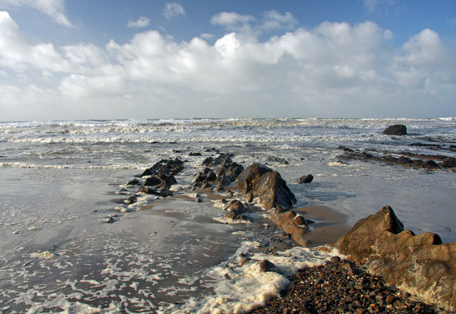 Windy day at Bude