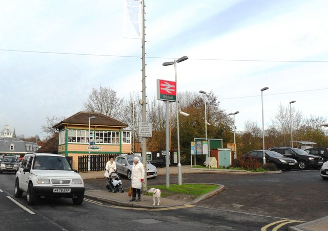 Entrance to Uckfield railway Station