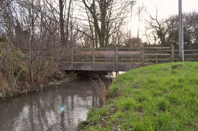 A cycle path near Rose Lane as seen from downstream on Coney Gut