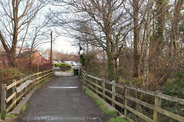 A footbridge over Coney Gut near Rose Lane