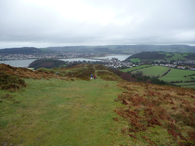Conwy Mountain looking down to Conwy