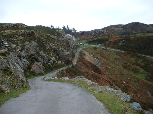Track down to Bwlch Sychnant