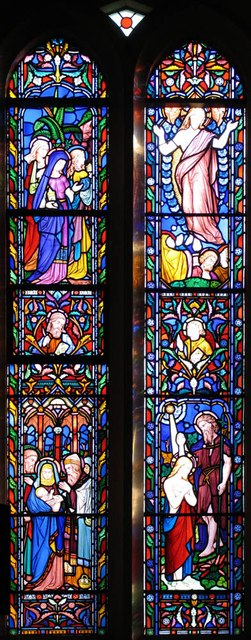 All Saints, Rayne - Stained glass window