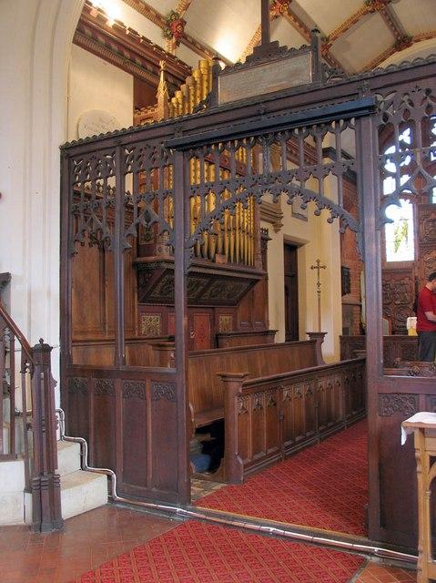 All Saints, Rayne - Organ
