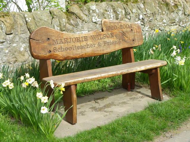 Memorial seat, Boarhills