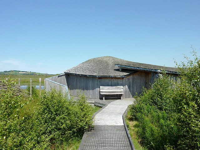 Bird-hide on Cors Caron, Ceredigion