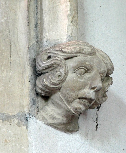 St Andrew, Shalford - Label head
