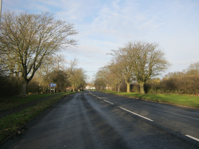Road to enter Sedgefield from the A689
