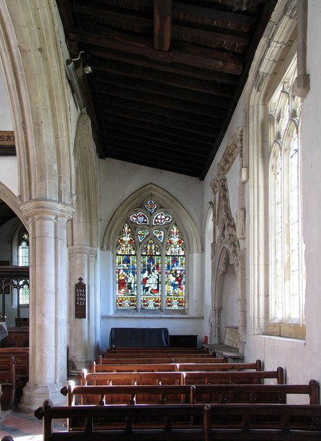 St Andrew, Shalford - South aisle