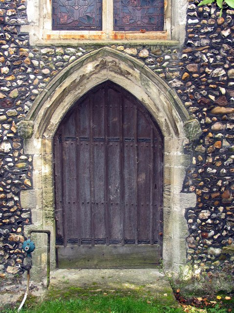 St Mary, Panfield - West door