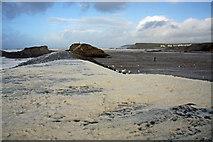 SS2006 : Foam-covered breakwater at Bude by Bob Jones