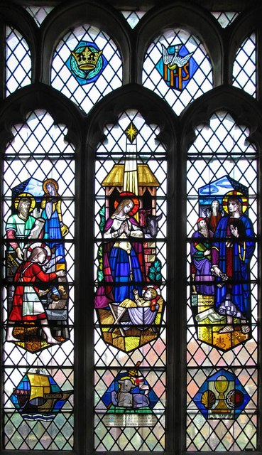 St Mary Magdalene & St Mary the Virgin, Wethersfield - Stained glass window