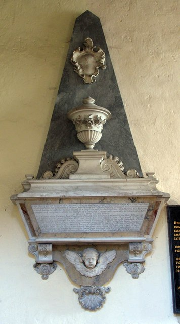 St Mary Magdalene & St Mary the Virgin, Wethersfield - Wall monument
