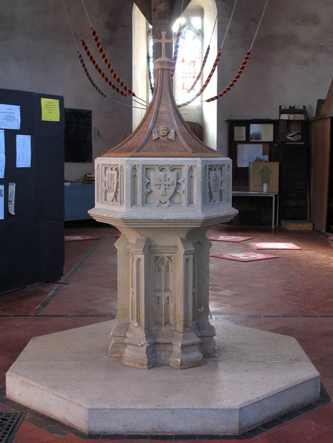 St Mary Magdalene & St Mary the Virgin, Wethersfield - Font