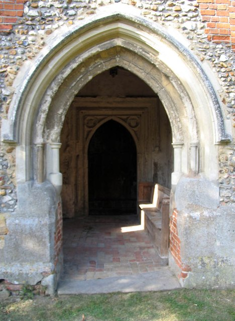 St Mary Magdalene & St Mary the Virgin, Wethersfield - Porch