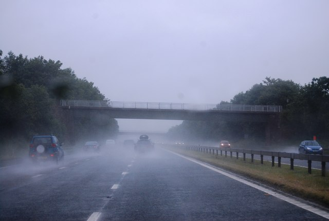 A wet day at Robinson House Bridge, M6