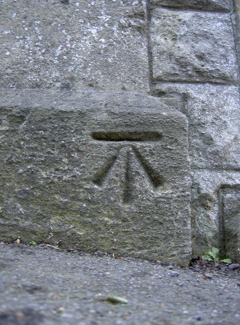 Benchmark opposite the allotments