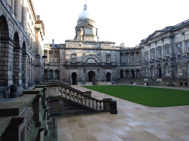 Revamped Old College Quadrangle (looking east)