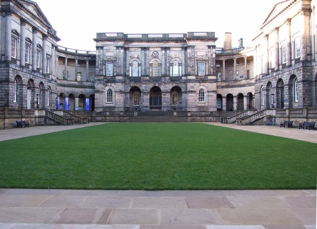Revamped Old College Quadrangle (looking west)