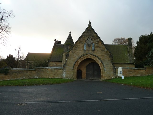 Merevale: Gate House and Church of Our Lady