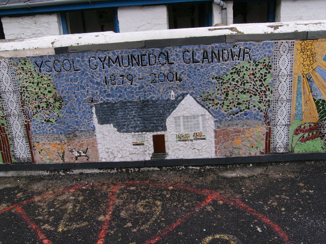 Mosaic in Playground of Glandwr School