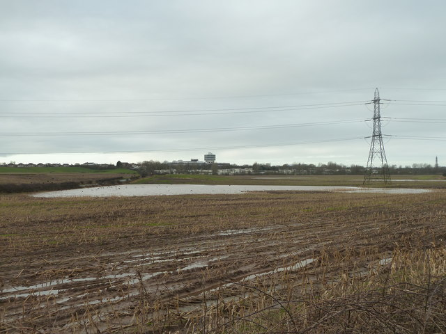 Flooded field by Mythop Road, from Chain Lane