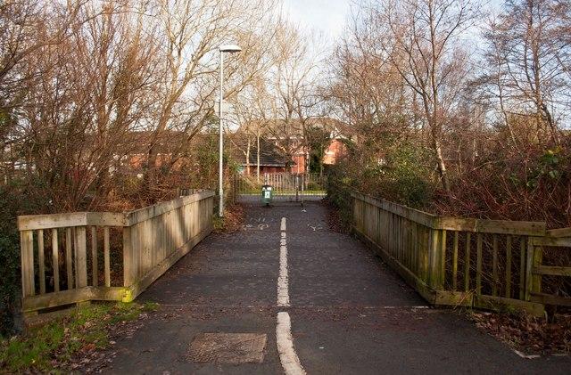 A path near Fairacre Avenue which crosses Coney Gut
