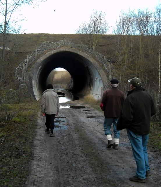 Public footpath Tunnel at Gascoigne Wood Mine