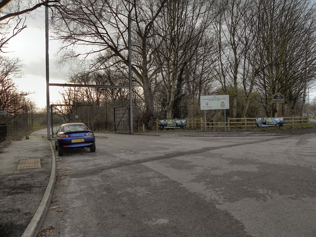 Entrance to Hough End Playing Fields