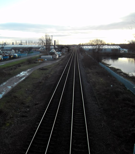 Railway line at Sherburn in Elmet.