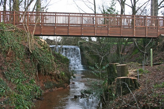 New bridge at Trull waterfall