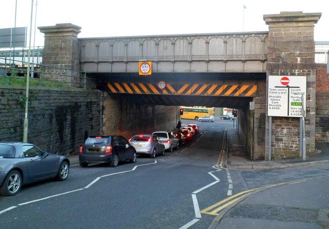 High Street railway and station bridge, Pontypridd
