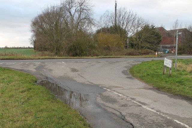 Junction of Moor Lane, fiskerton road and Reepham Road