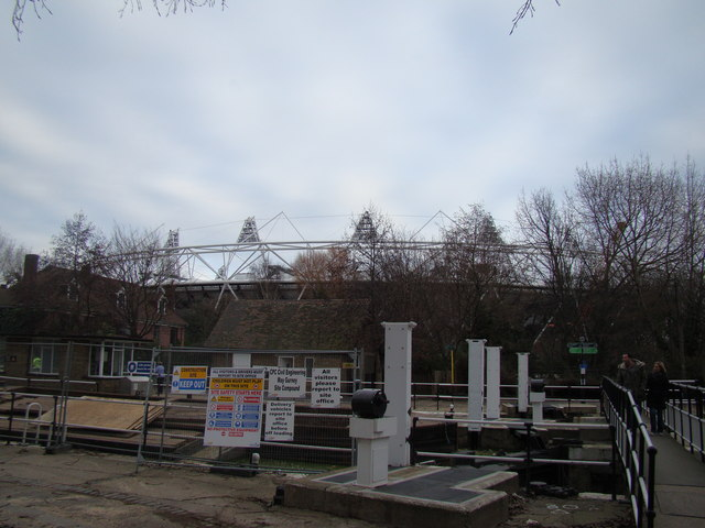 View of the Olympic Stadium from Old Ford Lock