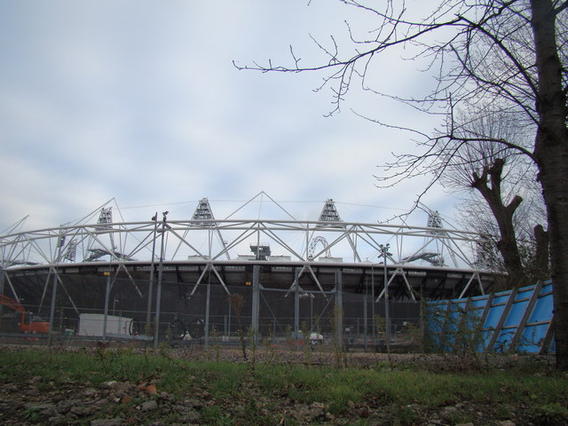 View of the Olympic Stadium from the Lea Navigation