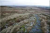 SD9834 : The Pennine Way on Dick Delf Hill by Bill Boaden