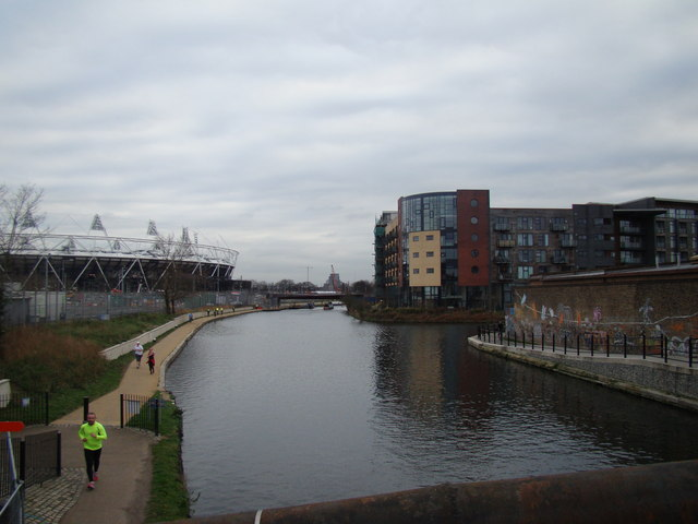 Looking back along the Lea towards Stratford #2